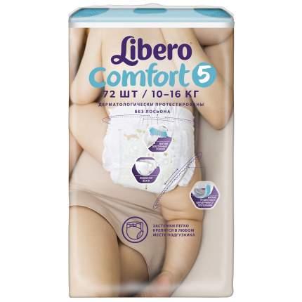 Подгузники Libero Comfort Size 5 (10-16кг), 72 шт.