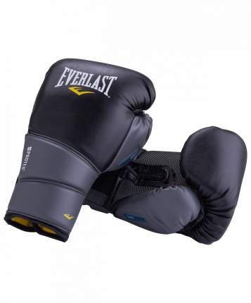 Боксерские перчатки Everlast Protex 2 черные 12 унций