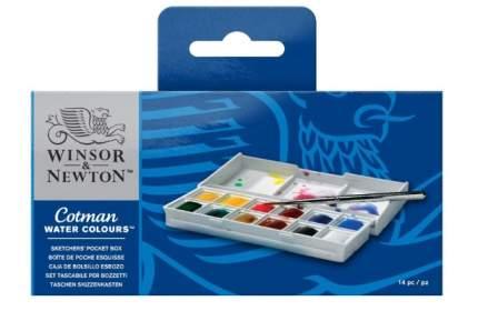Winsor&Newton Набор акварели Winsor&Newton COTMAN, Sketchers' Pocket Box, 12 цветов