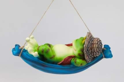 Фигура садовая навесная Лягушка в гамаке L30W13H14.5 см.