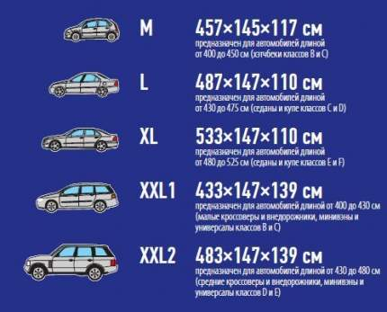 Тент автомобильный Sparco SPC/COV-700 BL (XL)