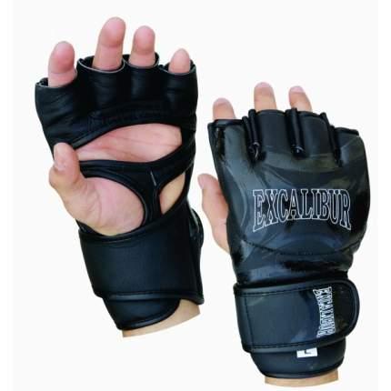 Перчатки ММА Excalibur 685/01 Black PU, S