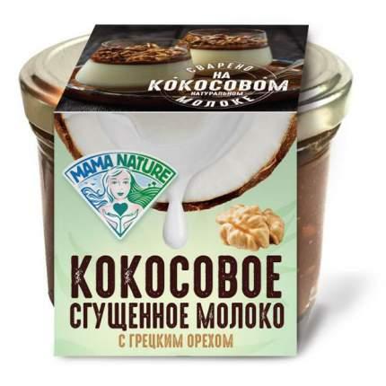 Сгущенное молоко Mama Nature кокосовое варенье с грецким орехом 220 г