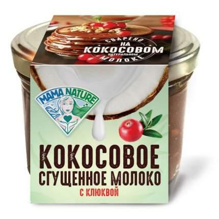 Сгущенное молоко Mama Nature кокосовое варенье с клюквой 220 г