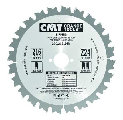Пильный диск по дереву  CMT 290.260.28M