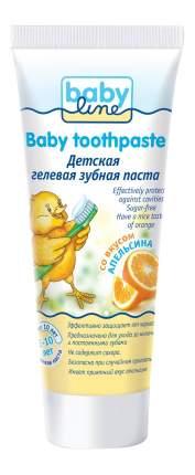Детская зубная паста babyline со вкусом апельсина, 75 мл