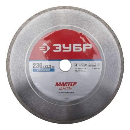 Отрезной диск по камню для угловых шлифмашин Зубр 36615-230