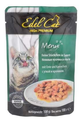 Влажный корм для кошек Edel Cat, утка, кролик, 20шт, 100г
