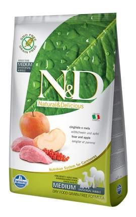 Сухой корм для собак Farmina N&D Medium, для средних пород, кабан и яблоко, 12кг