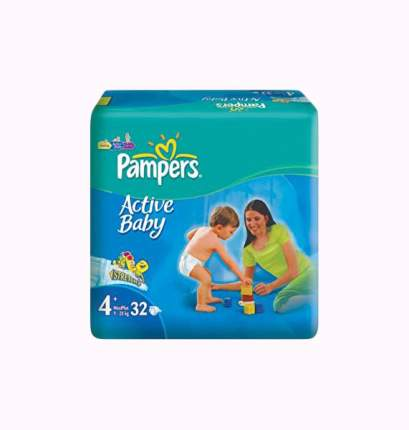 Подгузники Pampers Active Baby Maxi 4+ (9-20 кг), 32 шт.