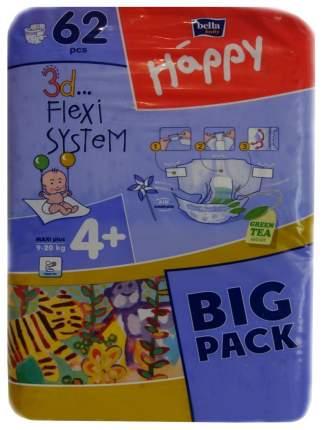Подгузники Bella Baby Happy Maxi Plus 4+ (9-20 кг), 62 шт.
