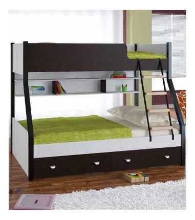 Двухъярусная кровать Golden Kids 3 белая/венге