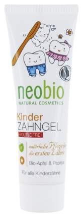 Гелевая зубная паста для детей Neobio без фтора с био-яблоком и папайей, 50 мл