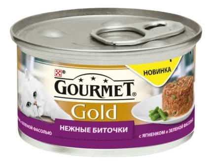 Консервы для кошек Gourmet Gold, ягненок, 85г
