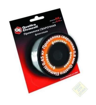 Проволока сварочная QUATTRO ELEMENTI флюсовая, 0,8 мм, масса 0,45 кг, блистер 770-384