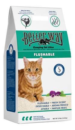 Комкующийся наполнитель для кошек Better Way Flushable цеолитовый, 5.44 кг