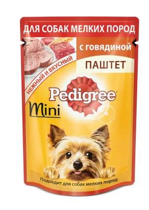Влажный корм для собак Pedigree Mini, говядина, 24шт, 80г