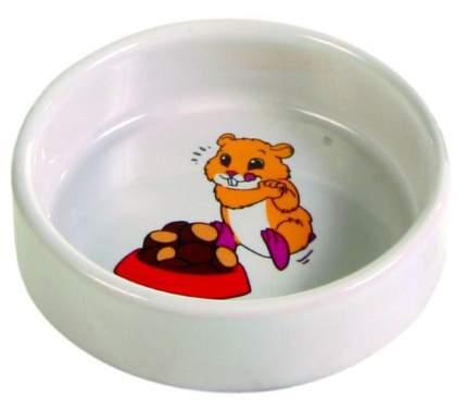 Одинарная миска для грызунов TRIXIE, керамика, белый, 0.09 л