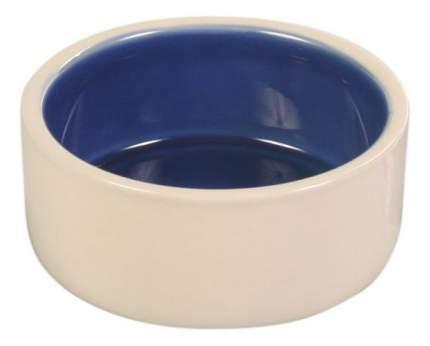 Одинарная миска для кошек и собак TRIXIE, керамика, бежевый, синий, 0.35 л