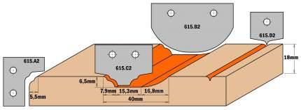 Комплект 2 ножей HM 30x25x2 (профиль A2) CMT 615.A2