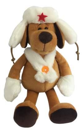 Мягкая игрушка Teddy Собака в белой ушанке, 20 см