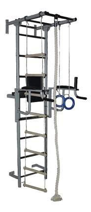 Комплекс домашний спортивный Крепыш Плюс пристенный с брусьями серый