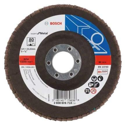 Круг лепестковый Bosch 125мм K80 Expert for Metal 2608606718