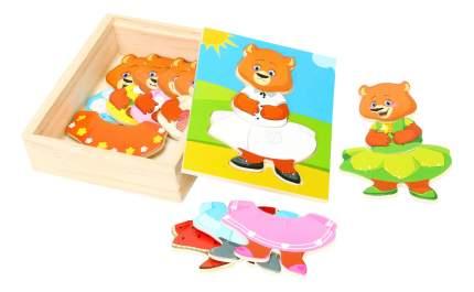 Деревянная игрушка для малышей Мир Деревянных Игрушек Медвежонок Катя