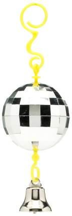 Дразнилка для птиц  JW Зеркальный шар с колокольчиком, Пластик, Металл, 20см