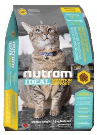 Сухой корм для кошек Nutram Weight Control, диетический, домашняя птица, 6,8кг