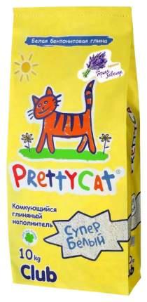 Комкующийся наполнитель для кошек PrettyCat Супер белый бентонитовый, лаванда, 10 кг, 40 л