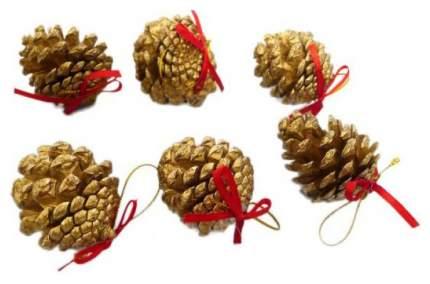 Шишки декоративные Новогодняя сказка 68977 4 см