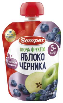 Пюре фруктовое Semper Яблоко и черника с 5 мес 90 г