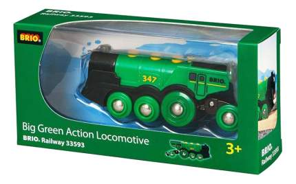 Поездной состав Brio Большой паровоз на батарейках 33593