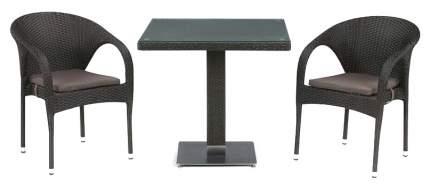 Набор дачной мебели Afina T605SWT/Y290W-W53 Brown 2Pcs