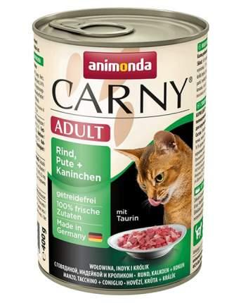 Консервы для кошек Animonda Carny Adult, с индейкой и кроликом, 6шт по 400г