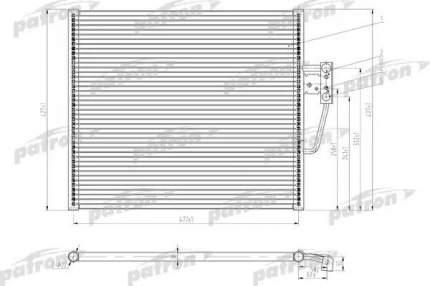 Радиатор кондиционера автомобильный PATRON PRS1054