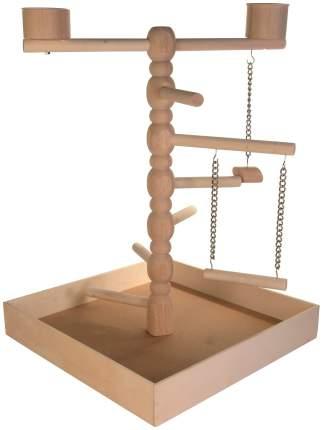 Площадка для попугая Trixie Wooden Playground, размер 41х55х41см,