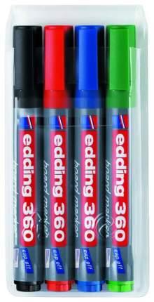 Набор маркеров для досок Edding e-360/4S 4 цвета