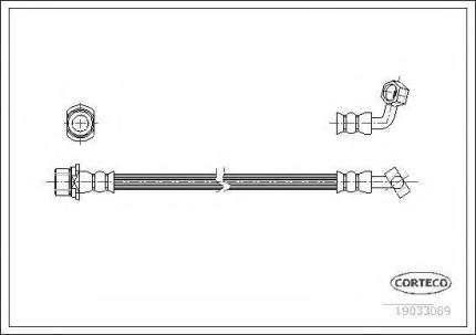 Шланг тормозной Corteco 19033089