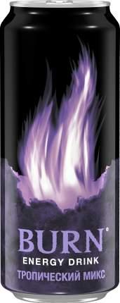 Энергетический напиток сильногазированный Burn тропический микс жестяная банка 0.5 л