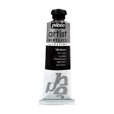 Акриловая краска Pebeo Artist Acrylics extra fine №1 черный слоновая кость 37 мл
