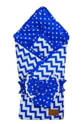 Одеяло на выписку AmaroBaby Zig Zag синий