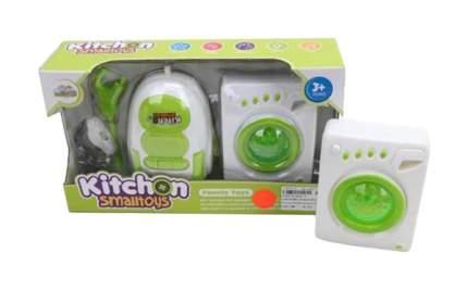 Игровой набор Наша игрушка Бытовая техника, стиральная машинка и пылесос, зелено-белый