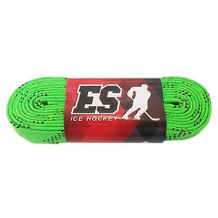Шнурки для коньков ES 29729244 зеленые, 2,44 м