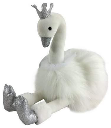 SHANTOU Лебедь белый с серебряными лапками и клювом, 25 см. M091