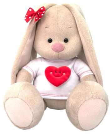Мягкая игрушка BUDI BASA Зайка Ми в футболке с сердцем, 25 см