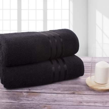 Полотенце банное Doome Гармоника Черный (70х130 см - 2 шт)