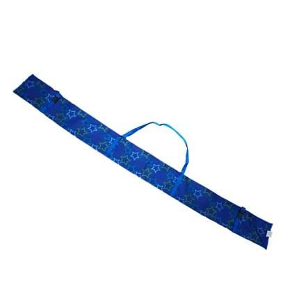 Чехол для беговых лыж Gekars принт звезды на синем, 170 см
