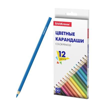 Цветные карандаши ErichKrause Basic шестигранные 12 цветов